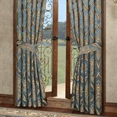 Castleton Wide Tailored Curtain Pair Steel Blue 100 x 84