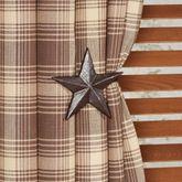 Star Curtain Holdback Pair Brown