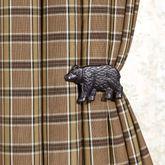 Bear Curtain Holdback Pair Black