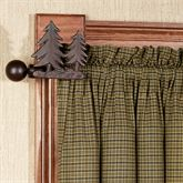 Pine Tree Decorative Curtain Rod Set Brown 44 to 80