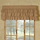 Prairie Mill Ruffled Valance Multi Warm 60 x 18