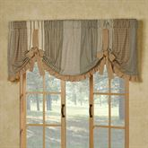 Prairie Mill Tie Up Valance Multi Warm 72 x 22