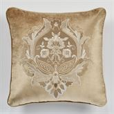 Albany Embroidered Pillow Champagne 18 Square