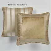 Albany Reversible Piped Framed Pillow Champagne 18 Square
