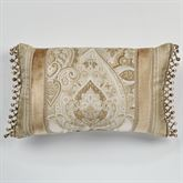 Albany Ball Fringe Pillow Champagne Rectangle