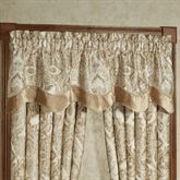 Albany Scalloped Valance Champagne 72 x 18