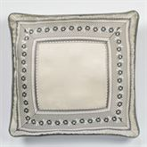 Odesa Reversible Piped Pillow Oyster 18 Square