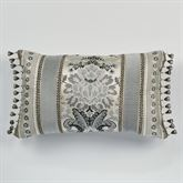 Odesa Reversible Bead Fringe Pillow Oyster Rectangle