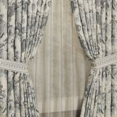 Odesa Wide Tailored Curtain Pair Oyster