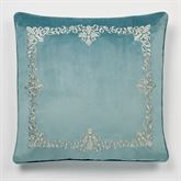 Lansbury European Pillow with Embroidered Sham Teal