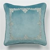 Lansbury Embroidered Pillow Teal 18 Square