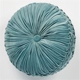 Lansbury Tufted Pillow Teal Round