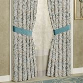 Lansbury Wide Tailored Curtain Pair Teal 100 x 84
