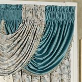 Lansbury Solid Color Waterfall Valance Teal 49 x 33