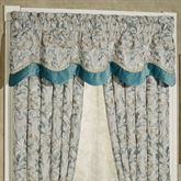 Lansbury Scalloped Valance Teal 72 x 20
