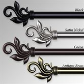 Adalia Single Decorative Curtain Rod Set