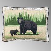 Birch Bear Quilted Standard/Queen Sham Multi Warm