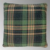 Birch Bear Quilted Plaid Pillow Multi Warm 18 Square