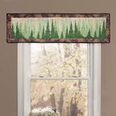 Birch Bear Quilted Valance Multi Warm 56 x 15