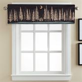 Moonlit Cabin Quilted Valance Black 56 x 15