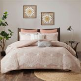 Ellipse Mini Comforter Set Coral Pink
