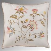 Caroline Reversible Embroidered Pillow Ivory 16 Square