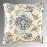 Helena Floral Medallion Reversible Pillow Cream 17 Square
