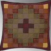 Heritage Farms Patchwork Quilted European Sham Multi Warm