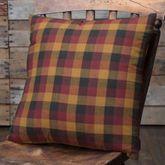 Heritage Farms Plaid Pillow Multi Warm 16 Square
