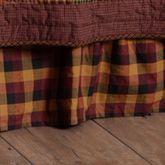 Ninepatch Plaid Gathered Bedskirt Multi Warm