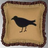 Ninepatch Crow Ruffled Pillow Multi Warm 18 Square