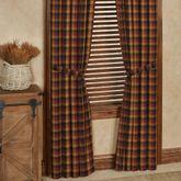 Ninepatch Plaid Tailored Curtain Pair Multi Warm