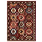 Abbas Rectangle Rug Multi Warm