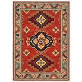 Zosar Rectangle Rug Red