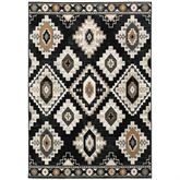 Krestrel Rectangle Rug Black