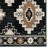 Krestrel Rug Runner Black 110 x 76