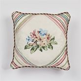 Chatsworth Reversible Embroidered Pillow Light Cream 18 Square
