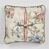 Chatsworth Reversible Printed Corded Pillow Light Cream 18 Square