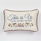 Chatsworth This Is Us Embroidered Pillow Light Cream Rectangle