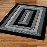 Park Place Rectangle Rug Black