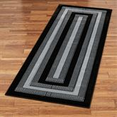 Park Place Rug Runner Black 27 x 74