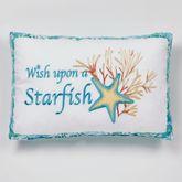 Atlantis Embroidered Starfish Pillow Multi Bright Rectangle