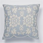 Primrose Tailored Pillow Sterling Blue 18 Square