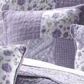 Lavender Garden Patchwork Pillow 15 Square