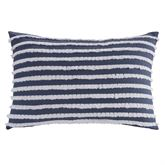 Trellis Fringed Pillow Indigo Rectangle