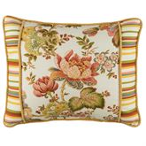 Luxuriance Reversible Pieced Rectangle Pillow Multi Warm