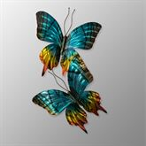 Sunset Butterflies Pair Wall Sculpture Multi Jewel