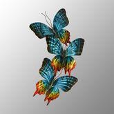 Sunset Butterflies Triple Wall Sculpture Multi Jewel