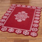Flurries Rectangle Rug Red