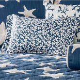 Palm Beach Flanged Pillow Dark Blue Rectangle